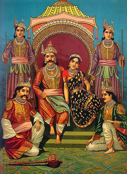 Draupadi and Pandavas
