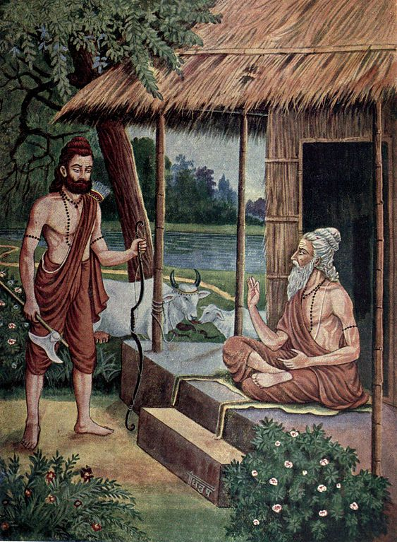 Parashuram with his father Jamadagni