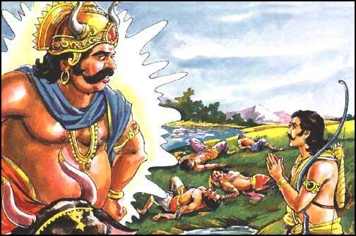 yaksha reveals himself to Yudhishthira