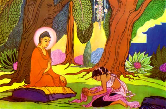 KisaGotami came to Buddha to revive her dead child after his death