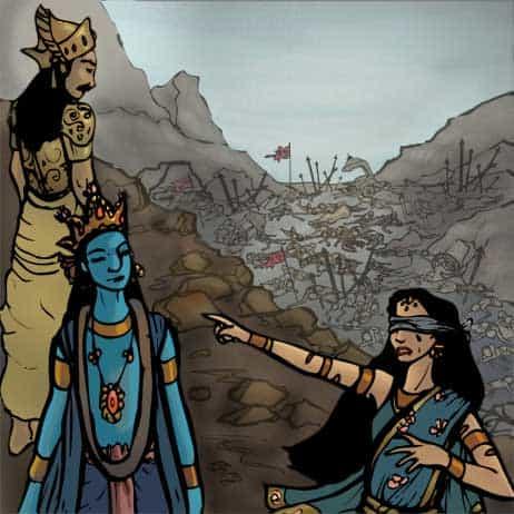 Gandhari curses Krishna