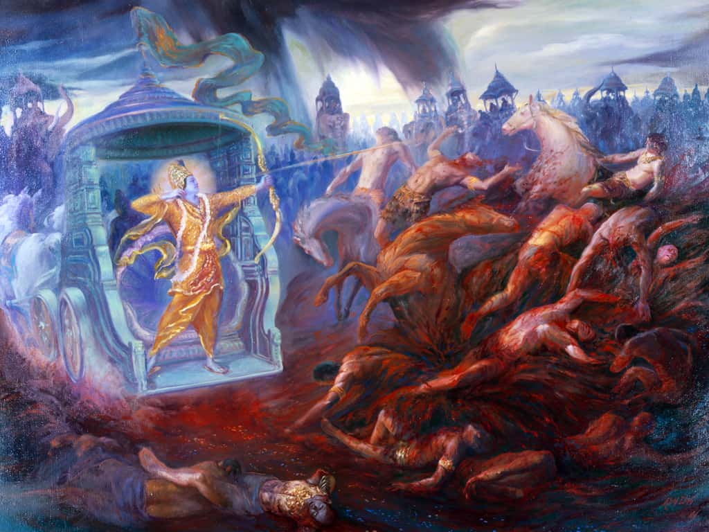 Eklavya killed by Krishna