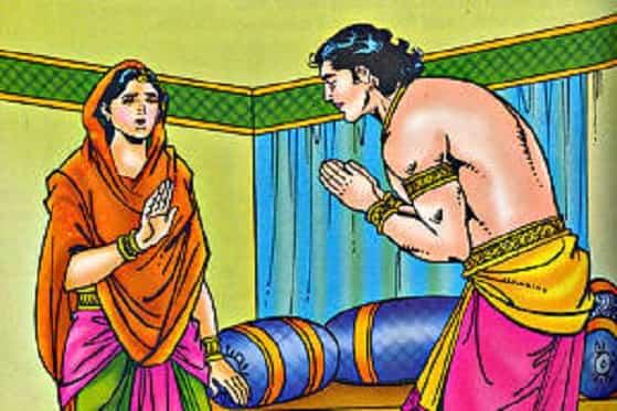 Kunti's emotional blackmail to Karna