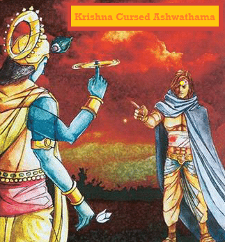 Ashwathama cursed by Krishna