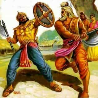 Bhishma and Parashuram fight with each other in Mahabharata