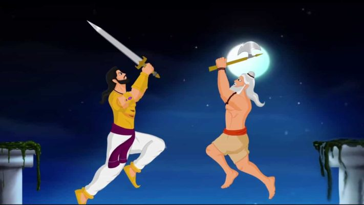 Why Bhishma and Parashuram fight with each other in Mahabharata?