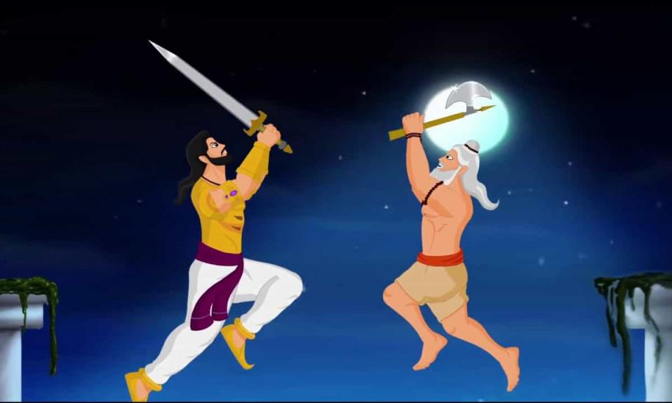 Bhishma and Parashuram fight