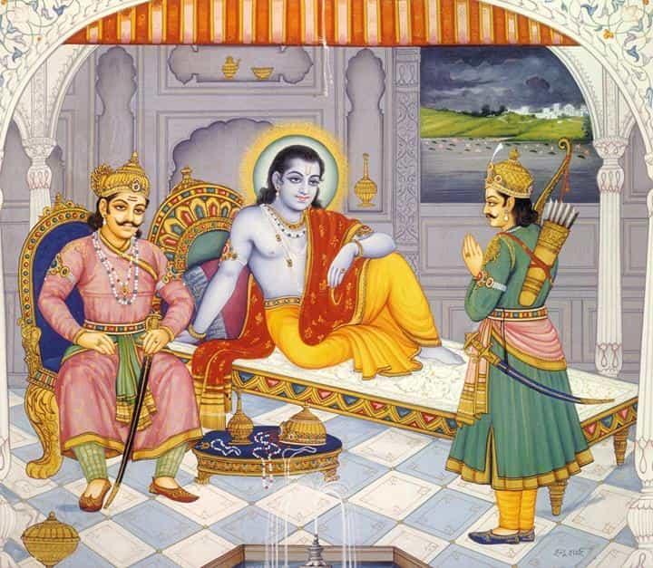 Arjun insults Yudhishthira