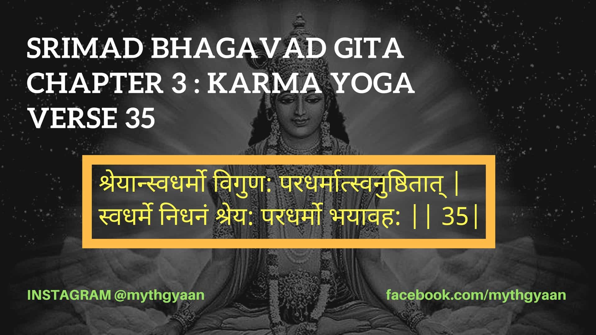 Bhagavad Gita Chapter 3 Karma Yoga Verse 35 Do Your Work Not Others