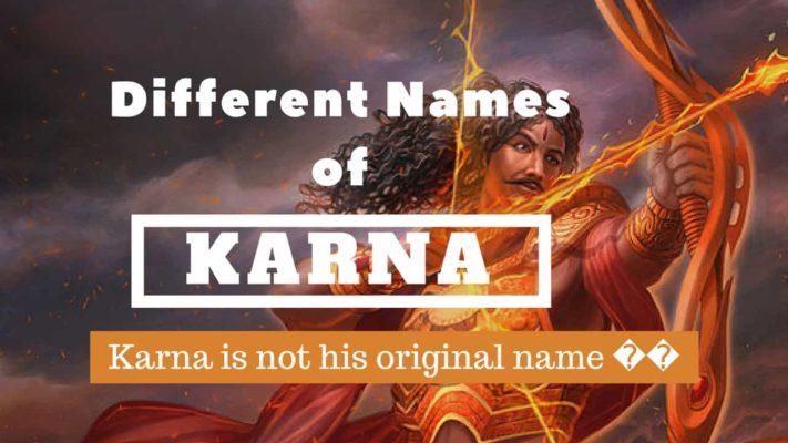 Different names of Karna in Mahabharat | Karna is not his original name😱