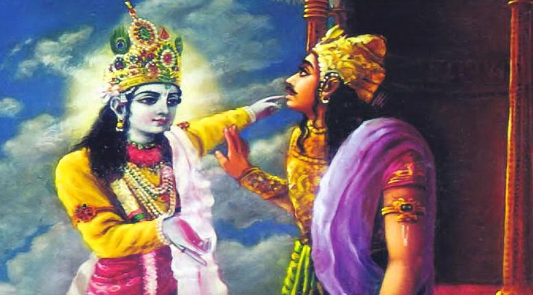 Krishna teaches Arjun about truth and falsehood