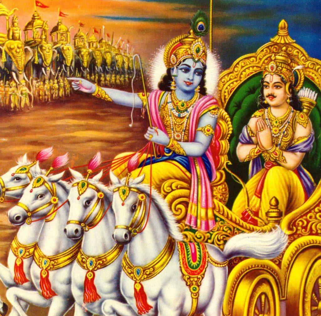 Krishna and Arjun wanted to seeYudhishthira