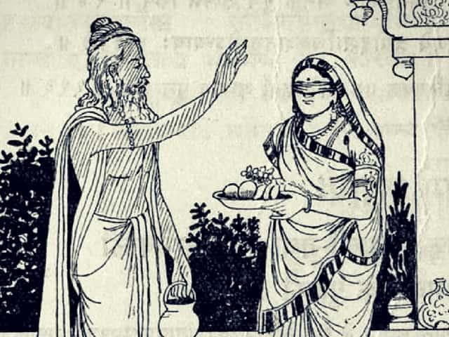 Gandhari gets a boon from Vyasa - Birth of Kauravas