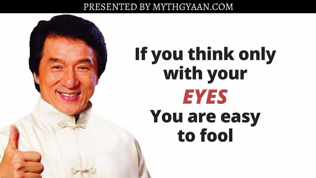 Karate Kid Quotes -  If you think only with your eyes, you are easy to fool.