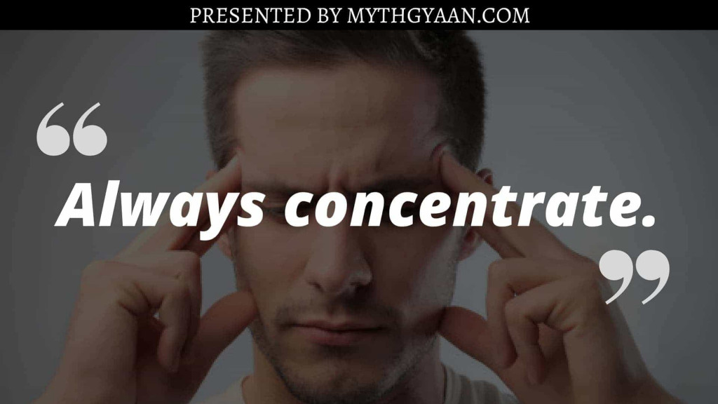 Karate Kid Quotes - Always concentrate