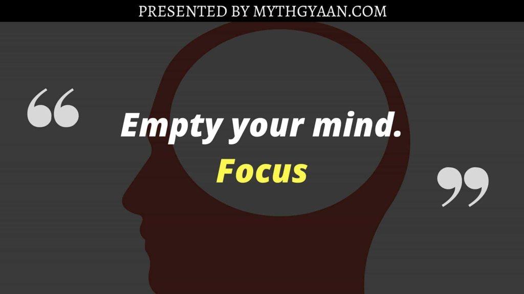 Karate Kid Quotes - Empty your mind. Focus