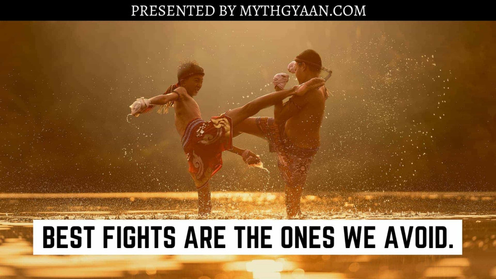 Karate Kid Quotes - Best fights are the ones we avoid.