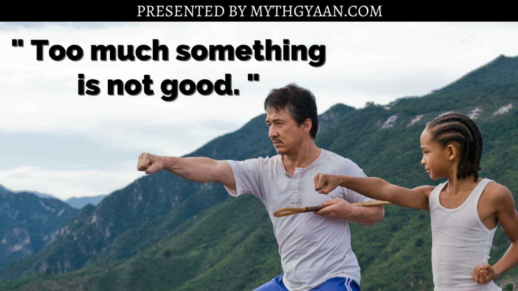 Karate Kid Quotes - Too much something is not good.