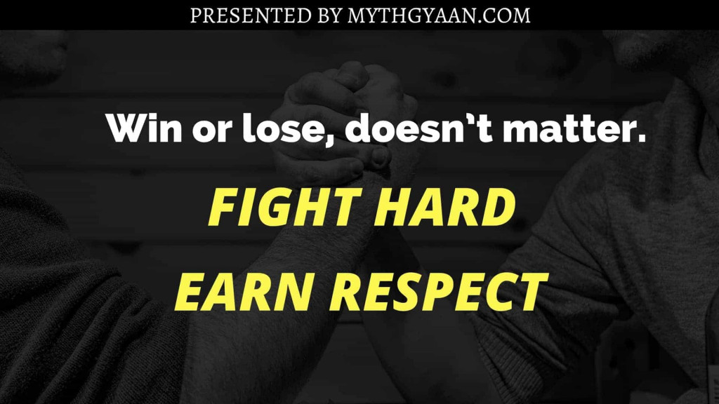 Karate Kid Quotes - Win or lose, doesn't matter. Fight hard. Earn respect.