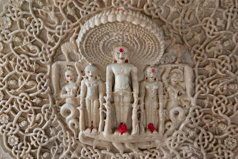 carving of diety Parshvanatha (23rd Tirthankara) with 108 heads of snakes