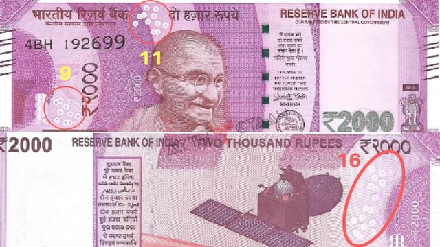 Bubble structure in Rs 2000 note