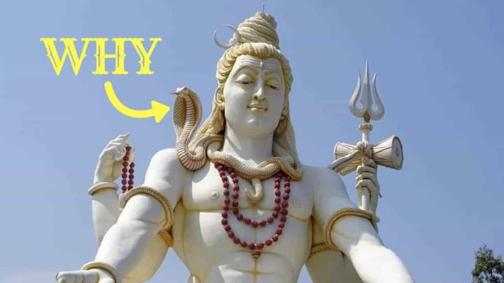 Why Lord Shiva wears a snake around his neck?