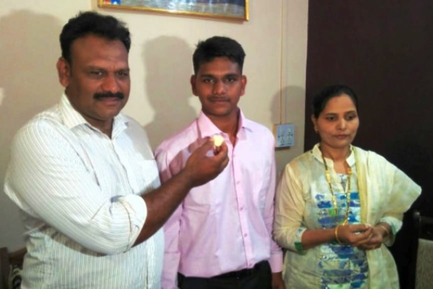 parents of karnataka topper who applied for re-evaluation
