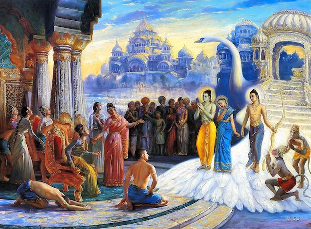Return of Lord Rama to Ayodhya in Ramayana