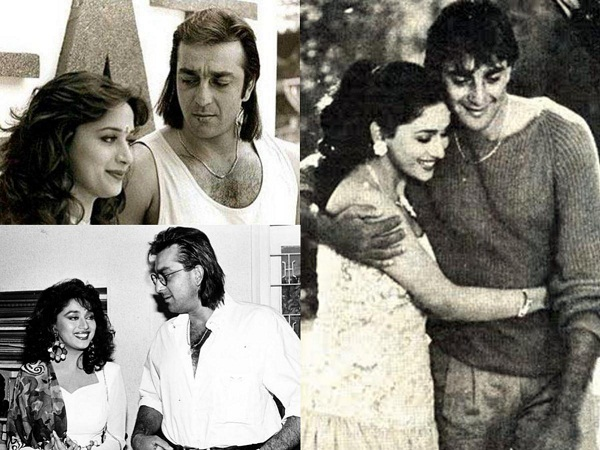Sanjay Dutt and Madhuri Dixit were rumoured to be in a relationship with each other. But when Sanjay was arrested for ill8gal possession of arms in 1993, she broke up with him. - Sanjay Dutt Facts
