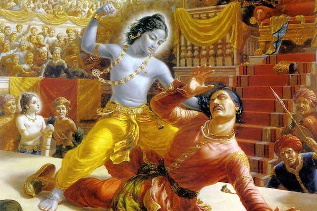 Lord Krishna killedNarakasura