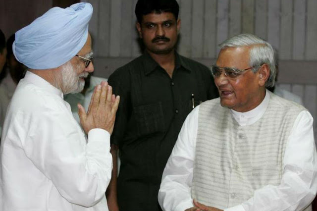 During his speech in Rajya Sabha, former Indian Prime Minister, Dr. Manmohan Singh referred Vajpayee as the Bhishma Pitamah of Indian Politics.
