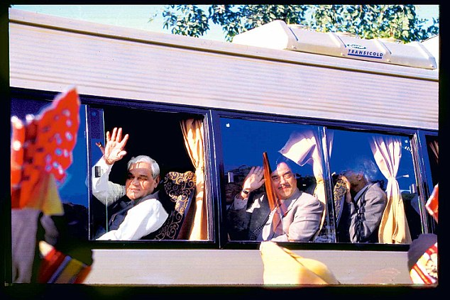 In February 1999, Vajpayee initiated peace process to resolve issues with Pakistan by inaugurating Delhi-Lahore bus service. He also took a bus journey named Sada-e-Sarhad to Lahore on 19th February, 1999.