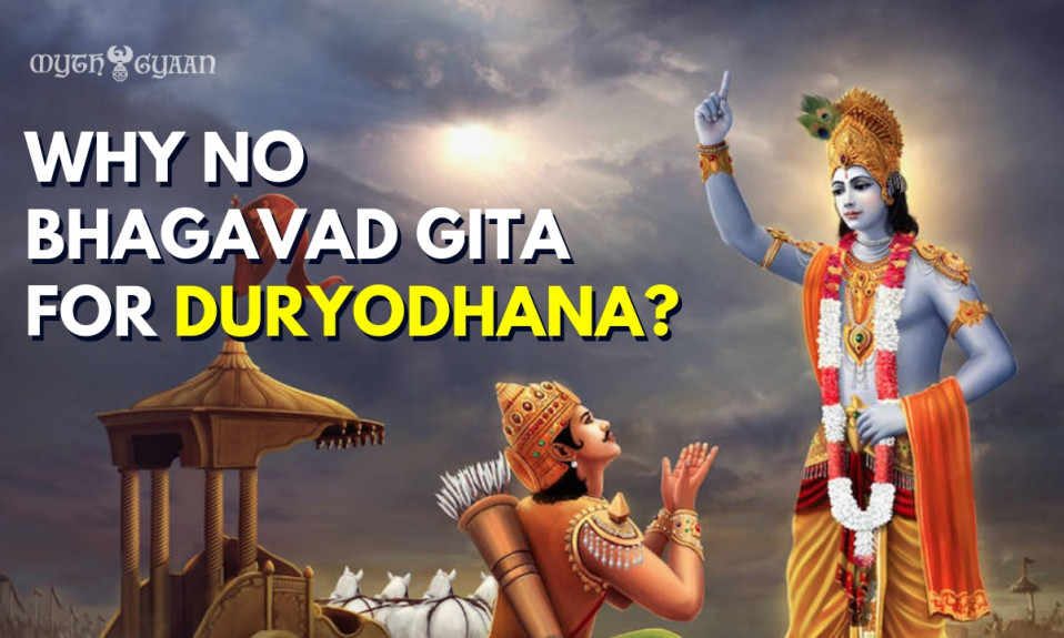 Why Lord Krishna Did Not Tell Bhagavad Gita to Duryodhana? The Answer Will Shock You!