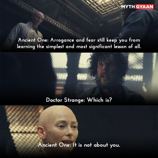 Arrogance and fear still keep you from learning the simplest and most significant lesson of all. - Ancient One - Doctor Strange Quotes