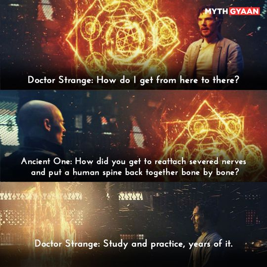 Study and practice, years of it. - Doctor Strange Quotes