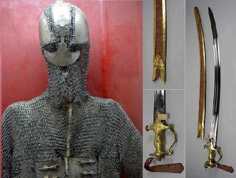 Maharana Pratap Armour, Swords and Spear