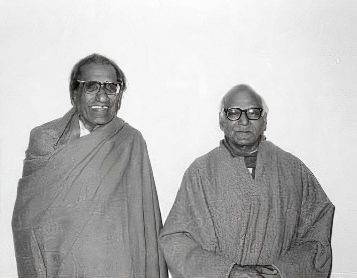 Sita Ram Goel (left) and Ram Swarup (right)